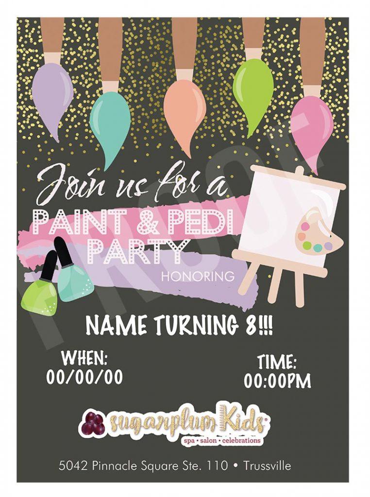 Web Invite - Paint Party