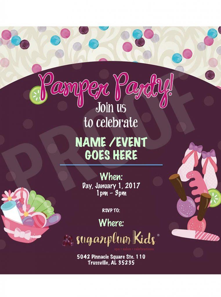 Web Invite - Pamper Party